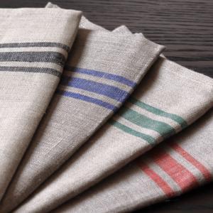 CALIENTE リトアニア リネン 麻 100% カンパーニュ L 赤・青・緑 クロス キッチン タオル ランチョマット キッチンワイプ 布巾 ふきん 台拭き ギフト|caliente
