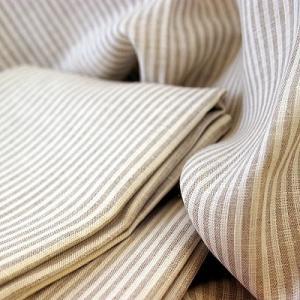 CALIENTE リトアニア リネン 麻 100% ペイトン ストライプ バスタオル トープ色|caliente