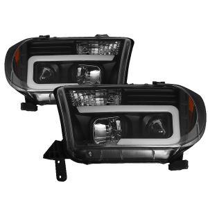 2007-2013y トヨタ タンドラ / 2008y- トヨタ セコイア プロジェクターヘッドライト(ブラック) DRL Style 日本仕様|californiacustom