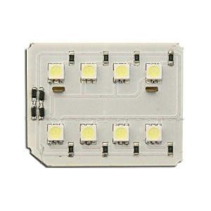 汎用LEDルームランプ 12000Kシリーズ 基盤型(8SMD/3chip)BL|californiacustom