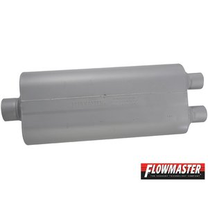FLOW MASTER 70 シリーズ マフラー - 3.00 Center In / 2.25 Dual Out - Mild Sound|californiacustom|02