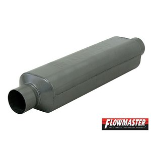 FLOW MASTER スーパー HP-2 マフラー 409S - 2.00 Center In./2.00 Center Out - Moderate Sou|californiacustom