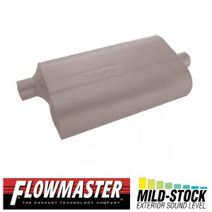 FLOW MASTER スーパー 50 マフラー - 2.25 Offset In / 2.25 Center Out - Mild Sound|californiacustom