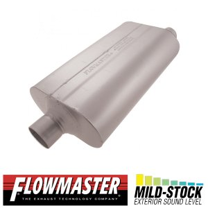 FLOW MASTER スーパー 50 マフラー - 2.50 Center In / 2.50 Offset Out - Mild Sound|californiacustom