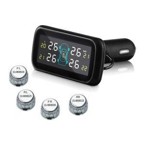 汎用 タイヤ 空気圧モニタリングシステム 温度/電圧 U903Z (シルバーセンサー) ワイヤレス 空気圧モニター/TPMSモニター|californiacustom