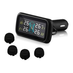 汎用 タイヤ 空気圧モニタリングシステム 温度/電圧 U903Z (ブラックセンサー) ワイヤレス 空気圧モニター/TPMSモニター|californiacustom
