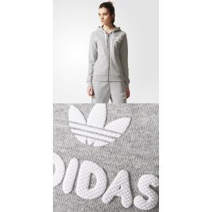 Adidas アディダス ジップアップパーカー 長袖 レディース オリジナルス 正規品 トリフォイル グレー|californiastyle|03