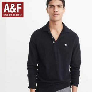 アバクロ ポロシャツ Abercrombie & Fitch アバクロンビーアンドフィッチ 正規品 メンズ 長袖 californiastyle