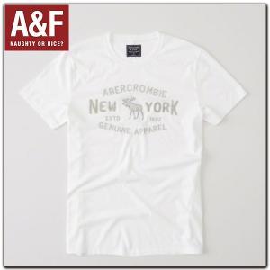 アバクロ Tシャツ 正規 メンズ Abercrombie & Fitch 刺繍 半袖Tシャツ アバクロンビー アンド フィッチ californiastyle