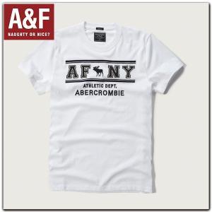 アバクロ Tシャツ 正規 メンズ Abercrombie & Fitch アップリケ刺繍アバクロンビー アンド フィッチ 半袖TEEシャツ californiastyle