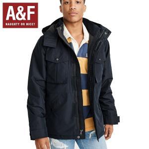 Abercrombie & Fitchアバクロンビーアンドフィッチ正規品メンズ ナイロンアウター ジャケットネイビー|californiastyle