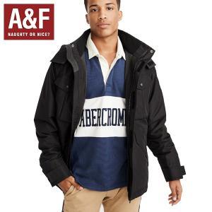 Abercrombie & Fitchアバクロンビーアンドフィッチ正規品メンズ ブラックナイロンジャケット|californiastyle