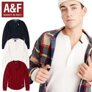 Abercrombie & Fitchアバクロンビーアンドフィッチ正規品メンズ長袖ワッフルヘンリー|californiastyle