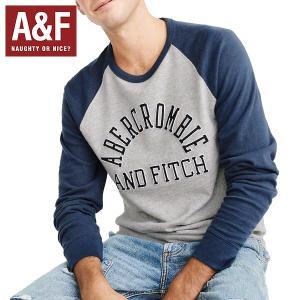 Abercrombie&Fitchアバクロンビーアンドフィッチ正規品メンズ長袖ラグランTシャツ|californiastyle