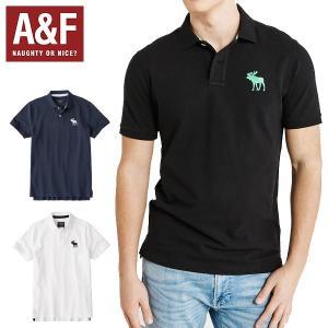 ポロシャツ メンズ 半袖 アバクロ Abercrombie&Fitch アバクロンビーアンドフィッチ 正規品 ホワイト ブラック ネイビー|californiastyle