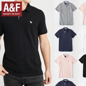 Abercrombie & Fitch アバクロンビーアンドフィッチ正規品メンズ ストレッチアイコン刺繍 半袖ポロシャツ|californiastyle