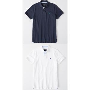 Abercrombie & Fitch アバクロンビーアンドフィッチ正規品メンズ ストレッチアイコン刺繍 半袖ポロシャツ californiastyle 05