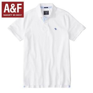 Abercrombie & Fitchアバクロンビーアンドフィッチ正規品メンズ半袖ポロシャツ白|californiastyle