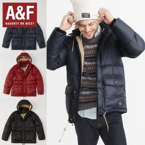 Abercrombie&Fitchアバクロンビーアンドフィッチ正規品メンズ フード付きダウンジャケット