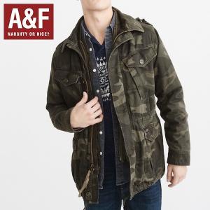 Abercrombie & Fitchアバクロンビーアンドフィッチ正規品メンズ ミリタリージャケット迷彩|californiastyle