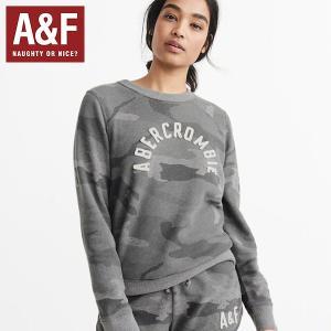 Abercrombie&Fitchアバクロンビーアンドフィッチ正規品レディースLOGO CREW SWEATSHIRTロゴアップリケ|californiastyle