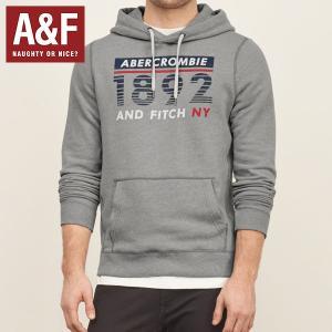 Abercrombie & Fitchアバクロンビー & フィッチ Abercrombie Herren Logo Graphic Hoodie アバクロ プルオーバーパーカー フーディ 122-231-0512-112 californiastyle
