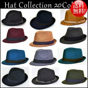 帽子 メンズ レディース ハット 中折れハット ハット帽 ウール|californiastyle
