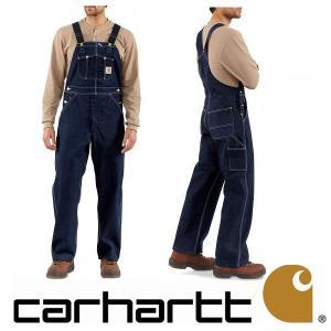 デニムパンツ オーバーオール メンズ Carhartt カーハート Men's Denim Unlined Bib Overall R08 インディゴ|californiastyle