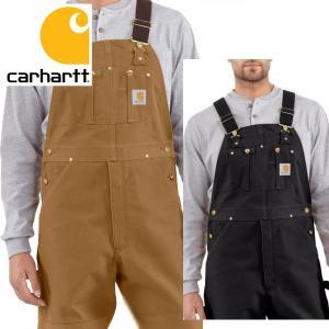 Carhartt カーハート 正規品 Men's Duck Bib Overall R01 ブラウン ダック ビブ オーバーオール californiastyle