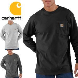 Carhartt カーハート Tシャツ 長袖 メンズ ロンT 正規品 Men's Workwear Long-Sleeve Pocket T-Shirt|californiastyle