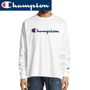 Championチャンピオン正規品メンズ 長袖TEEシャツ白メンズUSAアメリカ買い付け|californiastyle