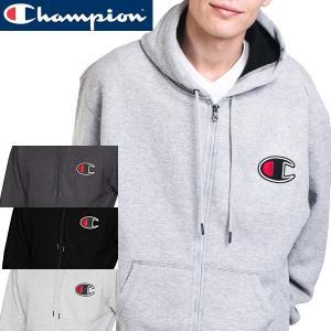 チャンピオン Champion 正規品チェーンステッチ ビッグ CロゴGF91Hジップアップスウェット|californiastyle