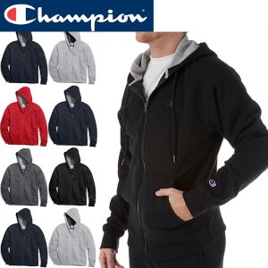 Champion スウェットZIPパーカーMen's Fleece Full Zip Jacketジップアップフリース|californiastyle