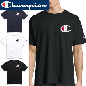 tシャツ メンズ 半袖 Champion チャンピオン 正規品 TEEシャツ 黒 白 Men's Graphic Jersey Tee|californiastyle