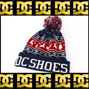 DC Shoes ディーシーシュー クリスマス柄 帽子 ボンボンXmas Puff Beanie Hat Mens ニット帽ADYHA03215 BTL0|californiastyle