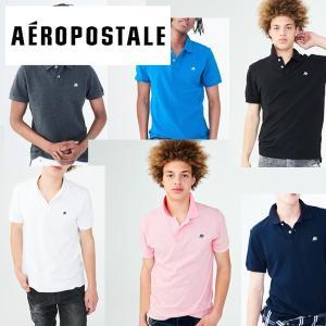 Aeropostale エアロポステール メンズ半袖ポロシャツ 無地 鹿の子POLO インポート|californiastyle