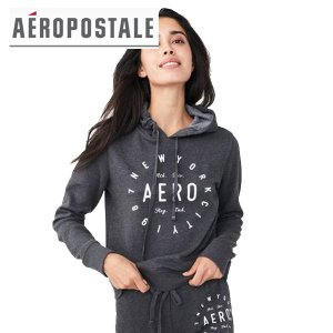 Aero エアロポステール正規品レディースパーカー フーディ New York Circle Pullover Hoodie|californiastyle