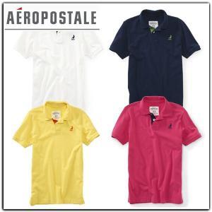 ポロシャツ AEROPOSTALE エアロポステール 半袖 刺繍入り 鹿の子ポロシャツ|californiastyle