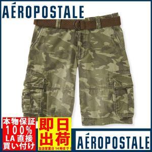 エアロポステールAEROPOSTALEBelted Camo Cargo Shorts ハー|californiastyle