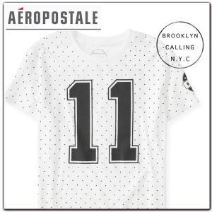 メンズ 半袖 Tシャツ エアロポステール AEROPOSTALE プリント 白 クルーネック おしゃれ|californiastyle