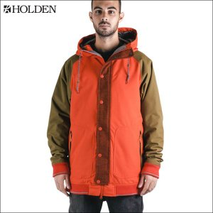 HOLDENホールデンVARSITY JACKET Firey-Red-Olive メンズ スノーボードウェア|californiastyle