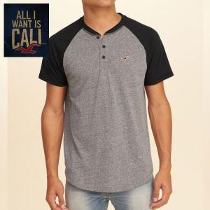 HOLLISTER ホリスター Tシャツ 正規品 メンズ 半袖 ヘンリーネック|californiastyle
