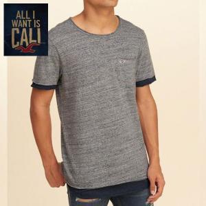 HOLLISTERホリスター正規品メンズ 半袖 重ね着風フェイク TEEシャツ|californiastyle
