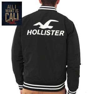 HOLLISTERホリスター正規品メンズ ロゴボンバージャケット|californiastyle