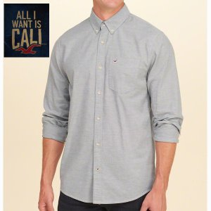 HOLLISTERホリスター正規品メンズ オックスフォードシャツ ストレッチ|californiastyle