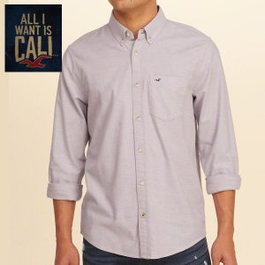 HOLLISTERホリスター正規品メンズ長袖シャツStretch Oxford Shirt|californiastyle