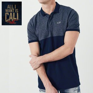 HOLLISTERホリスター正規品ストレッチポロシャツStretch Pique Shrunken Collar Polo|californiastyle