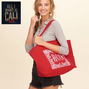 Hollister Co ホリスター トートバッグ キャンバス バック Girls Logo Graphic Canvas Tote 354-687-0385-508|californiastyle
