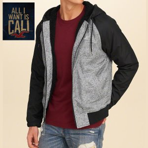 Hollisterホリスター メンズ アウター ブルゾン ジャンパー All-Weather Sherpa Lined Hoodie (BLACK) 332-328-0651-900|californiastyle