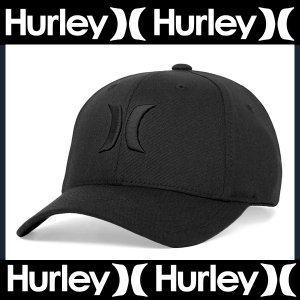Hurley Men's One & Only Black Flex-Fit Hat MAFCOOBLK ハーレー帽子 キャップ ブラック|californiastyle